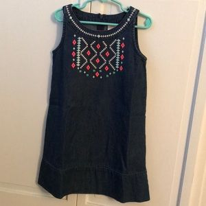 Gymboree Cotton Blue Girl's Dress Size 6